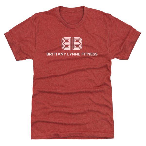 Brittany Lynne Fitness T-Shirt   White Logo