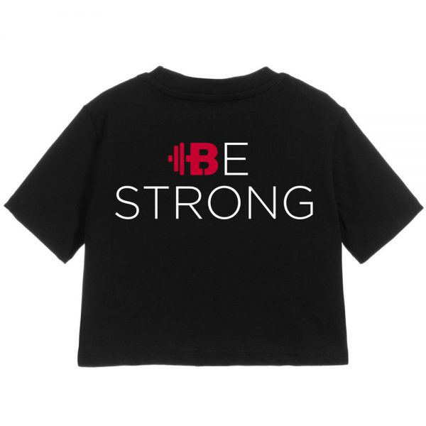 "Brittany Lynne Fitness ""Be Strong"" Cropped T-Shirt - Front Hero Image"