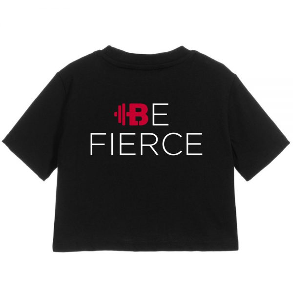 "Brittany Lynne Fitness ""Be Fierce"" Cropped T-Shirt - Front Hero Image"