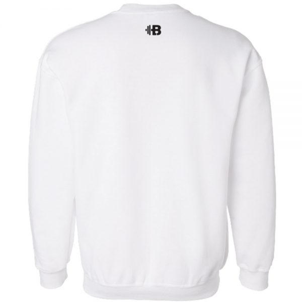 Brittany Lynne Fitness White Crewneck - back hero image