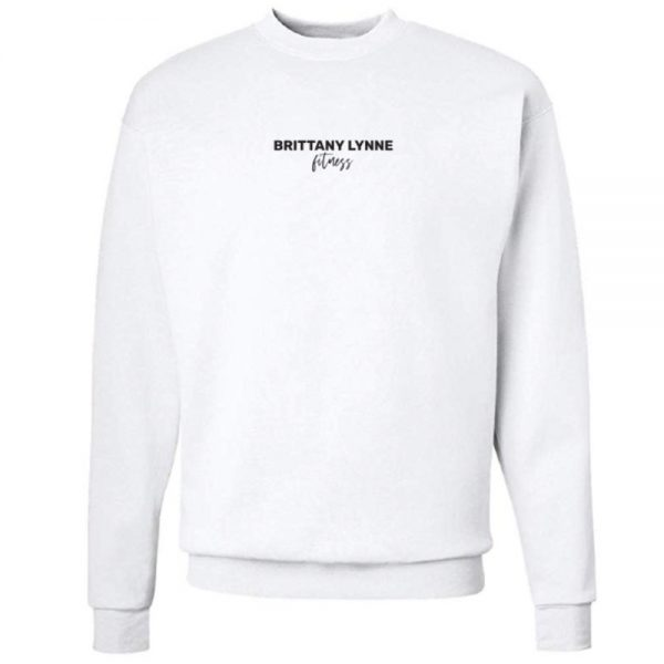 Brittany Lynne Fitness White Crewneck - front hero image