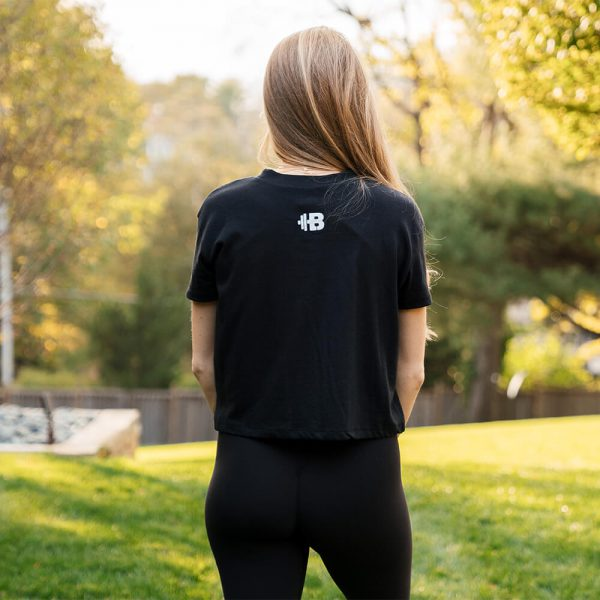 "Brittany Lynne Fitness ""Be Fierce"" Cropped T-shirt from the back"