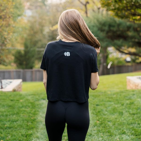 "Brittany Lynne Fitness ""Be Strong"" Cropped T-shirt from the back"