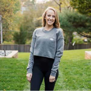 Brittany Lynne Fitness Cropped Long Sleeve from the front
