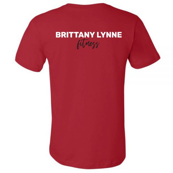 Brittany Lynne Fitness Red T-Shirt - back hero image