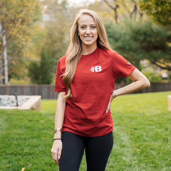 Brittany Lynne Fitness Red T-Shirt from the front