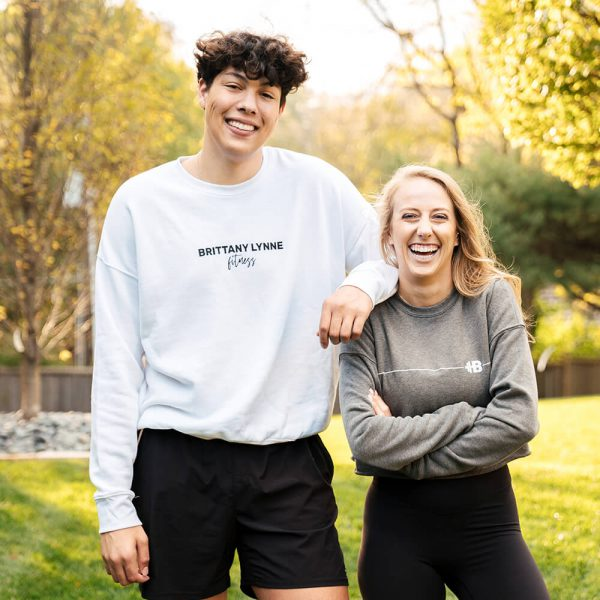 Brittany Lynne Fitness White Crewneck with Jackson Mahomes